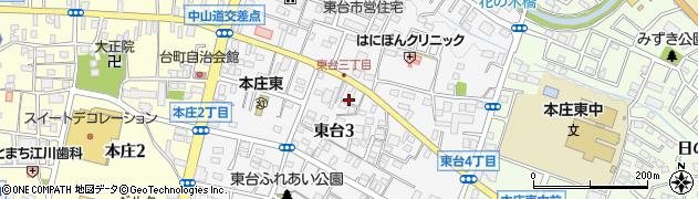 埼玉県本庄市東台周辺の地図