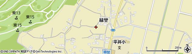 群馬県藤岡市緑埜周辺の地図