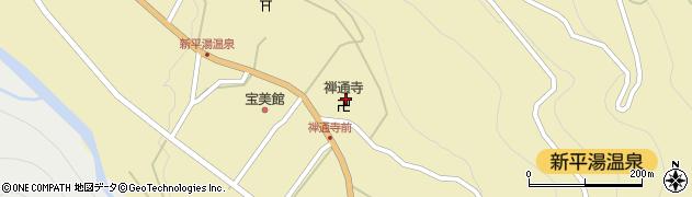 禅通寺周辺の地図