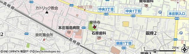 泉林寺周辺の地図