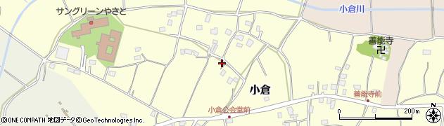茨城県石岡市小倉周辺の地図