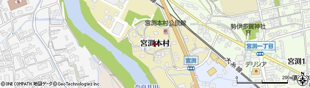長野県松本市宮渕本村周辺の地図
