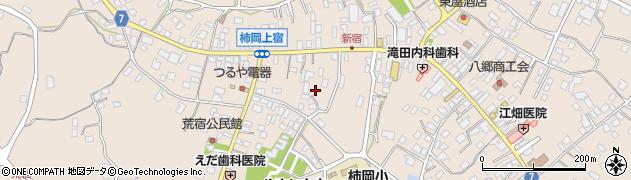 茨城県石岡市柿岡周辺の地図