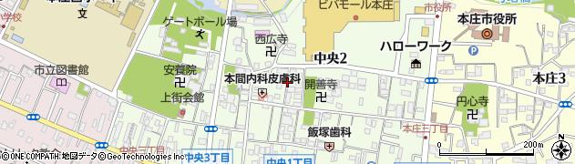 埼玉県本庄市中央周辺の地図