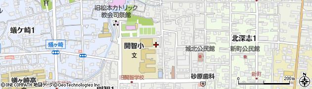 長野県松本市開智周辺の地図