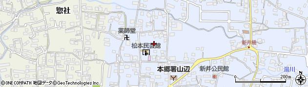 長野県松本市里山辺(下金井)周辺の地図