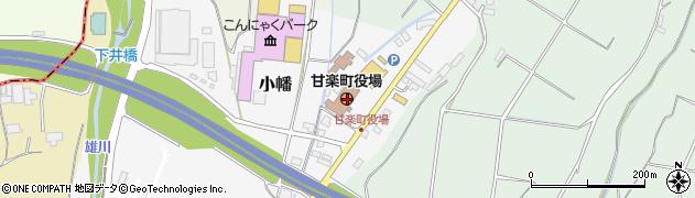 群馬県甘楽郡甘楽町周辺の地図