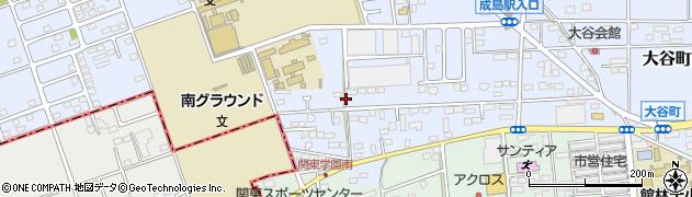 群馬県館林市大谷町周辺の地図