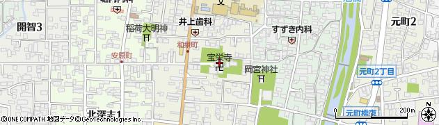 宝栄寺周辺の地図