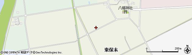 茨城県筑西市東保末周辺の地図
