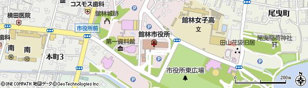 群馬県館林市周辺の地図