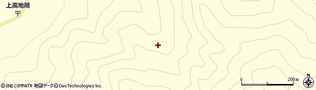 長野県松本市安曇(上高地)周辺の地図