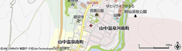 石川県加賀市山中温泉栄町(ニ)周辺の地図