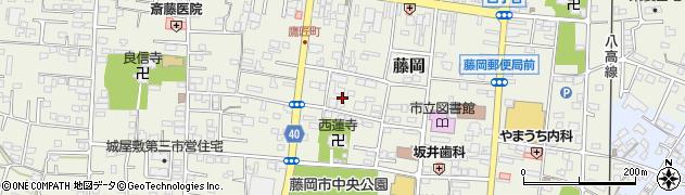 群馬県藤岡市藤岡周辺の地図