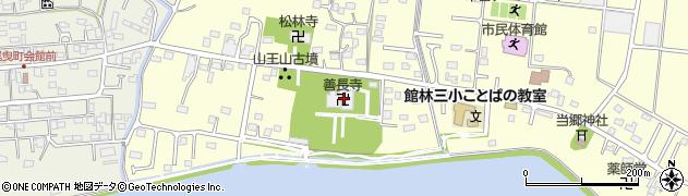 善長寺周辺の地図