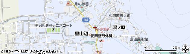 長野県松本市里山辺(湯ノ原)周辺の地図