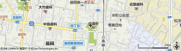 成道寺周辺の地図