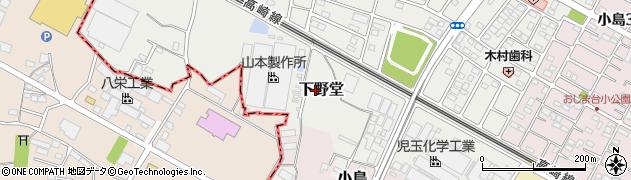 埼玉県本庄市下野堂周辺の地図