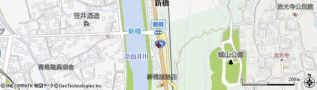長野県松本市新橋周辺の地図