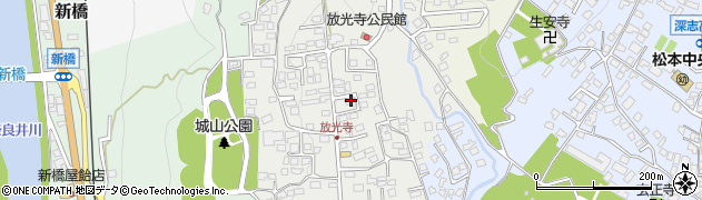 長野県松本市城山周辺の地図