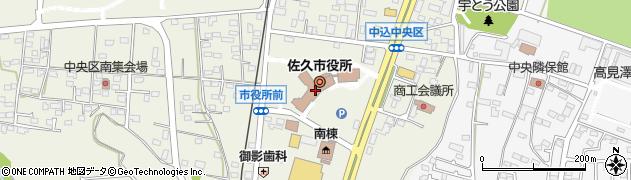 長野県佐久市周辺の地図