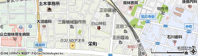 白山神社周辺の地図