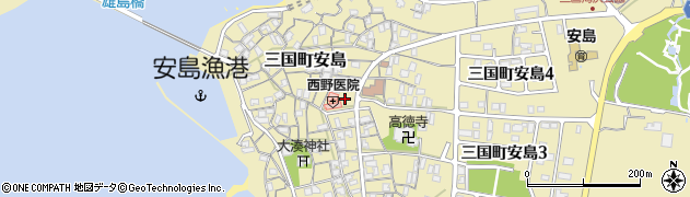 福井県坂井市三国町安島周辺の地図