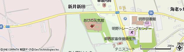 筑西市役所 あけの元気館周辺の地図