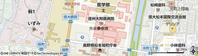 長野県松本市旭周辺の地図