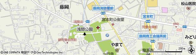 冨士浅間神社周辺の地図