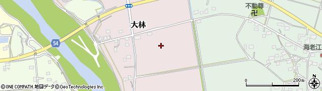 茨城県筑西市大林周辺の地図