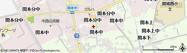 茨城県筑西市関本中周辺の地図