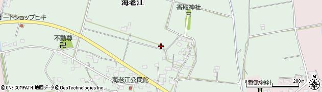 茨城県筑西市海老江周辺の地図