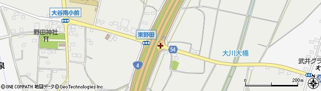 東野田周辺の地図