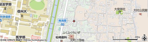長野県松本市南浅間周辺の地図