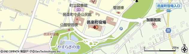群馬県邑楽郡邑楽町周辺の地図