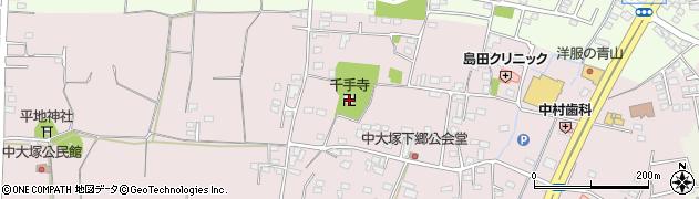 千手寺周辺の地図
