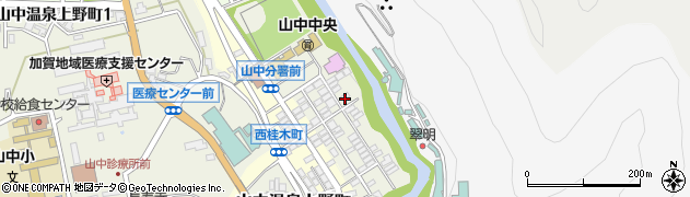 石川県加賀市山中温泉東桂木町周辺の地図