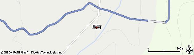 岐阜県白川村(大野郡)馬狩周辺の地図