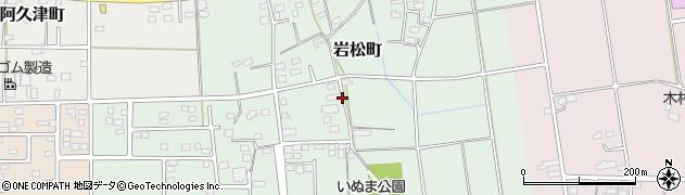群馬県太田市岩松町周辺の地図
