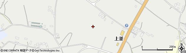 茨城県鉾田市上釜周辺の地図