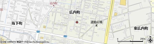 群馬県館林市広内町周辺の地図