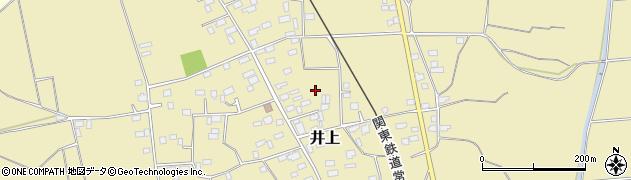 茨城県筑西市井上周辺の地図