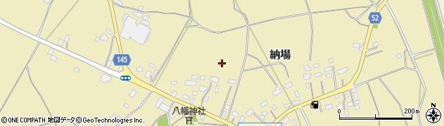 茨城県小美玉市納場周辺の地図