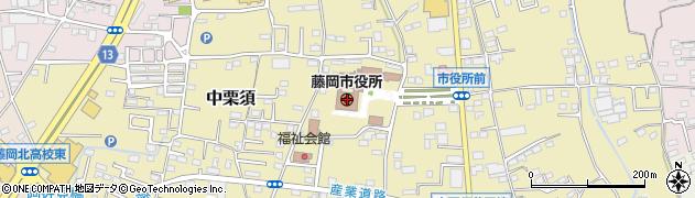 群馬県藤岡市周辺の地図