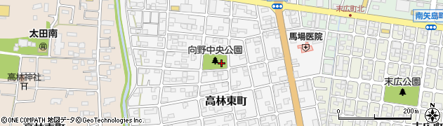 群馬県太田市高林東町周辺の地図