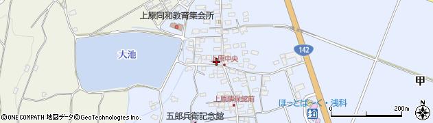 長野県佐久市甲(上原)周辺の地図