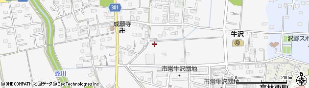 群馬県太田市牛沢町周辺の地図