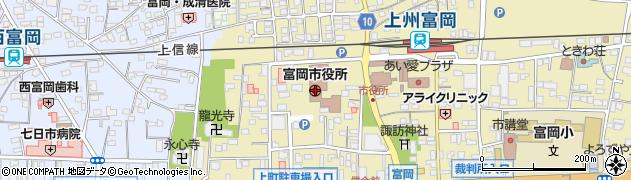 群馬県富岡市周辺の地図