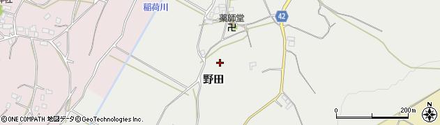 茨城県石岡市野田周辺の地図